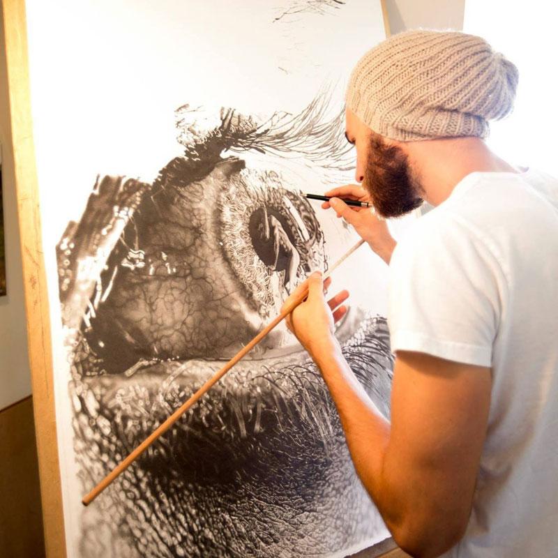 hyper realistic pencil drawings by jono dry 3 These Giant Pencil Drawings by Jono Dry are INSANE