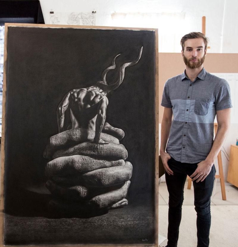 hyper realistic pencil drawings by jono dry 5 These Giant Pencil Drawings by Jono Dry are INSANE