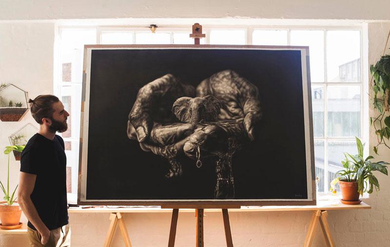 hyper realistic pencil drawings by jono dry 9 These Giant Pencil Drawings by Jono Dry are INSANE