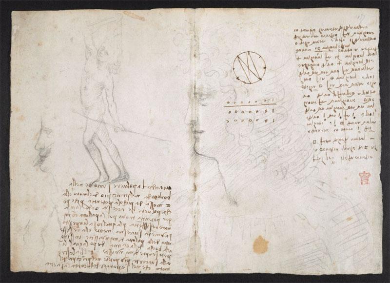 leonardo da vinci notebook 13 The British Library Has Fully Digitized 570 Pages of Leonardo da Vincis Visionary Notebooks