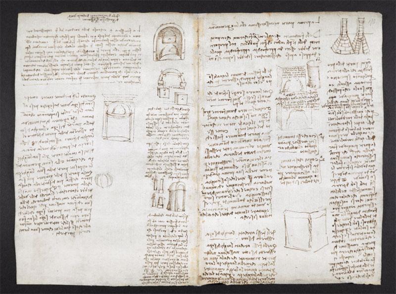leonardo da vinci notebook 14 The British Library Has Fully Digitized 570 Pages of Leonardo da Vincis Visionary Notebooks