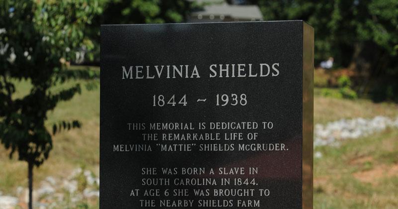 Memorial for Melvinia Shields (1844-1938) Shows How Far the United States Has Come