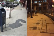 This Street Artist is Painting Fake Shadows and Making People Do Double Takes