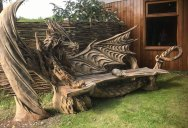 Igor Loskutow Used a Chainsaw to Carve this Incredible Dragon Bench