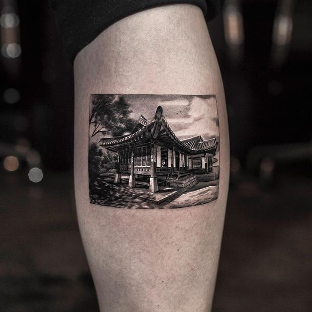 black and white tattoos look like photos printed on skin by inal bersekov 7 These Black and White Tattoos Look Like Photos Printed on Skin
