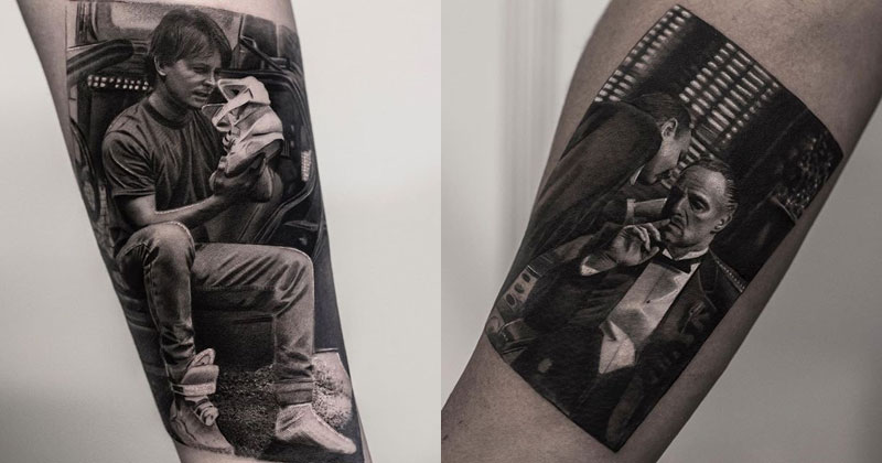 black and white tattoos look like photos printed on skin by inal bersekov cover These Black and White Tattoos Look Like Photos Printed on Skin