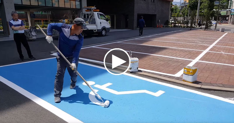 Just Casually Free Hand Painting Parking Spaces