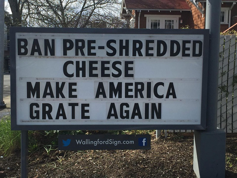 funny seattle gas station sign wallingford 2 Local Seattle Gas Station Sign Has the Best Messages Ever (21 Photos)