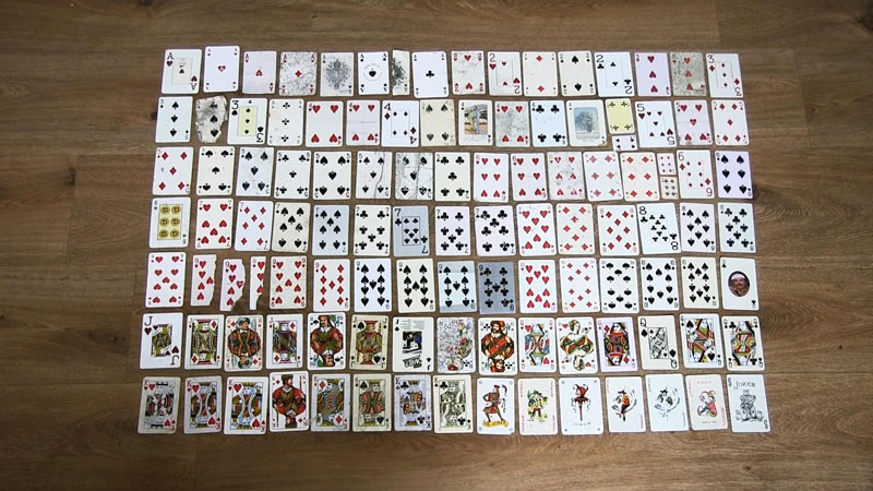 guy completes full playing card deck from randomly found cards around the world 51 Guy Completes Full Playing Card Deck from Randomly Found Cards Around the World