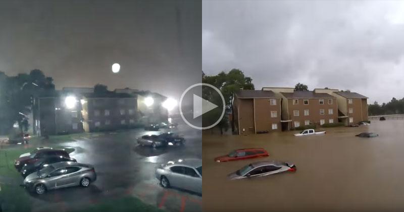 Timelapse Shows Devastating Speed of Houston Flooding from Hurricane Harvey