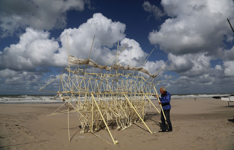 kinetic beach walkers powered by the wind by theo jansen 13 Strandbeests: The Kinetic Beach Walkers Powered by the Wind