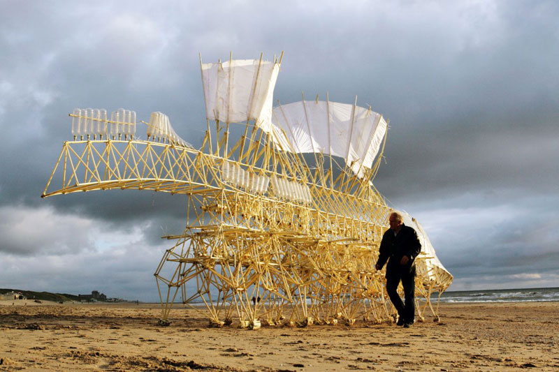 Strandbeests: The Kinetic Beach Walkers Powered by the Wind