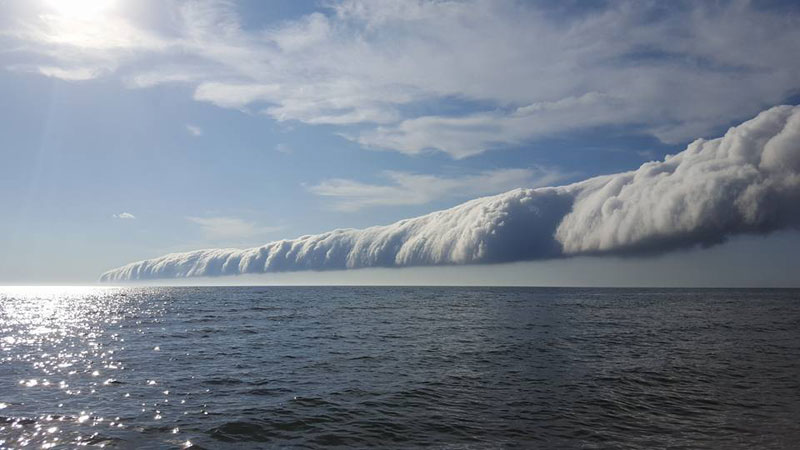 morning glory roll cloud over lake michigan 2 If You Get the Chance to See a Morning Glory Cloud, Do It