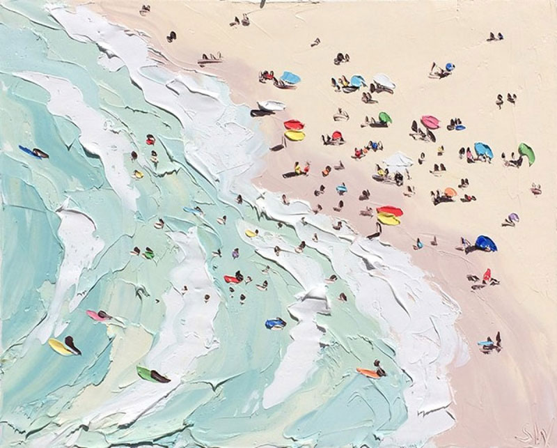 Sally West Uses Thick Dabs of Paint to Create Amazing Textural Surfaces and Outdoor Scenes