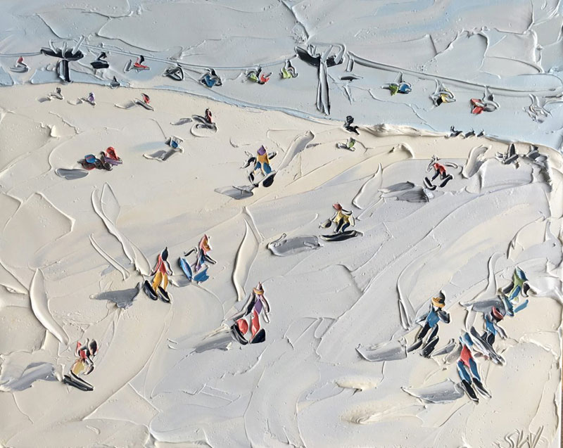 sally west art beach snow oil painting thick 13 Sally West Uses Thick Dabs of Paint to Create Amazing Textural Surfaces and Outdoor Scenes