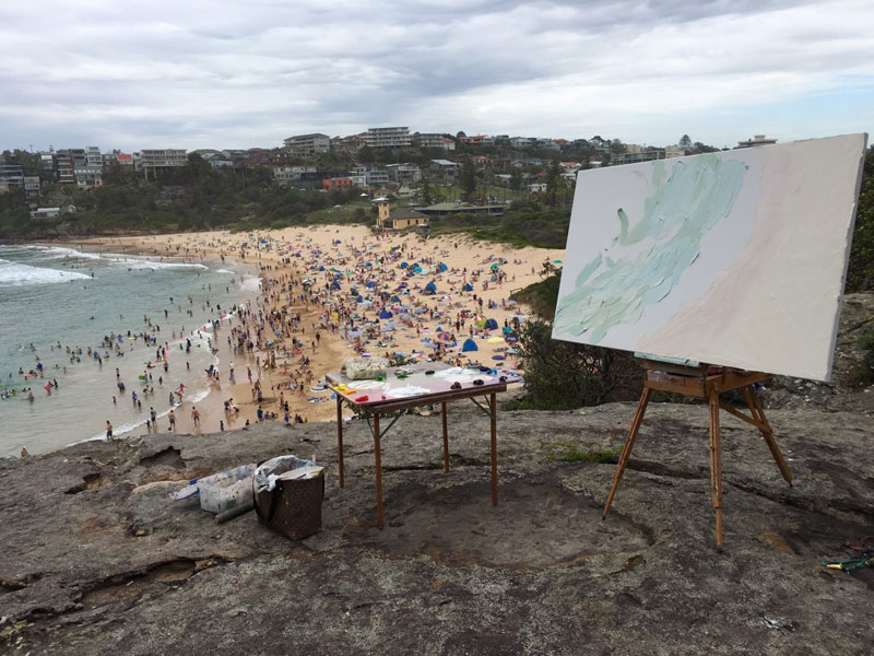 sally west art beach snow oil painting thick 16 Sally West Uses Thick Dabs of Paint to Create Amazing Textural Surfaces and Outdoor Scenes