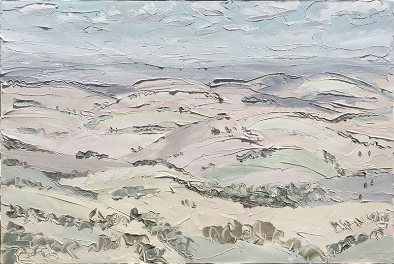 sally west art beach snow oil painting thick 9 Sally West Uses Thick Dabs of Paint to Create Amazing Textural Surfaces and Outdoor Scenes