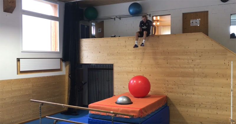 Think You Can Do This Olympic Freestyle Skier's Balance Course?