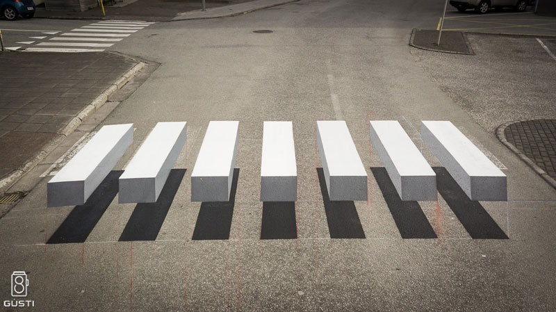 3d crosswalk iceland 1 Cities Around the Globe are Testing 3D Crosswalks to Slow Down Drivers