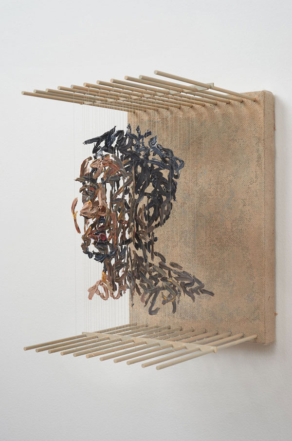 3d portraits made from suspended paint strokes by chris dorosz 1 Amazing 3D Portraits Made from Suspended Paint Strokes