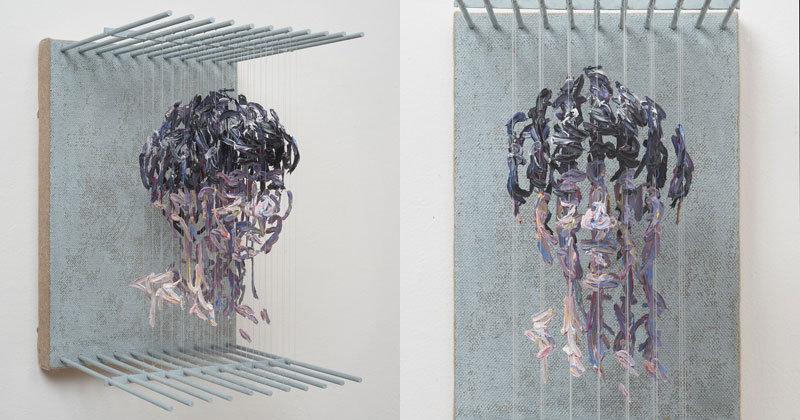 Amazing 3D Portraits Made from Suspended Paint Strokes