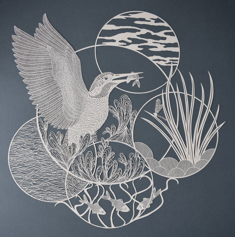 amazing hand cut paper animals by pippa dyrlaga 4 Amazing Hand Cut Paper Animals by Pippa Dyrlaga