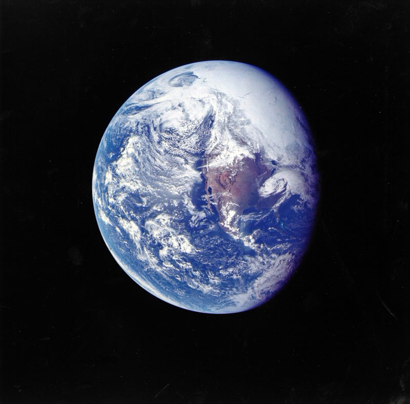 earth as seen by apollo 16 The First and Only Family Photo on the Moon