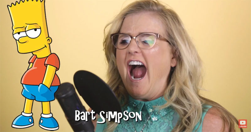 Nancy Cartwright Does Her 7 Simspsons Characters in 36 Seconds