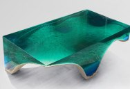Artist Channels the Ocean Into One-of-a-Kind Tables Using Marble and Acrylic