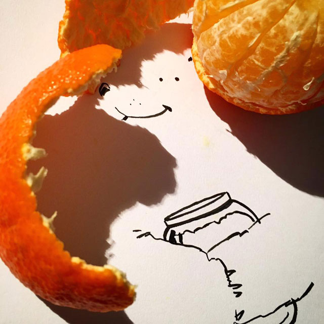 shadow art doodles vincent bal 8 Artist Casts Shadows and Doodles on the Results (21 Photos)