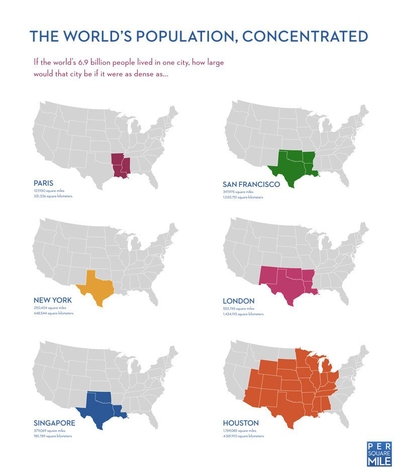 the worlds population concentrated 5 Interesting Maps That Use the United States as a Reference Point