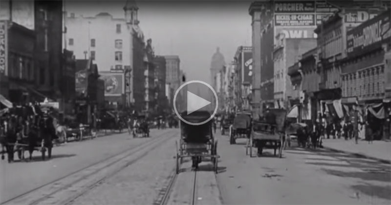 Rare Video Footage from 1906 Shows the Amazing Bustle of San Francisco's Market Street