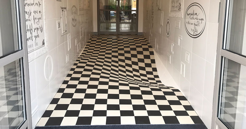 A Completely Level Floor Made from 400 Individual Ceramic Tiles
