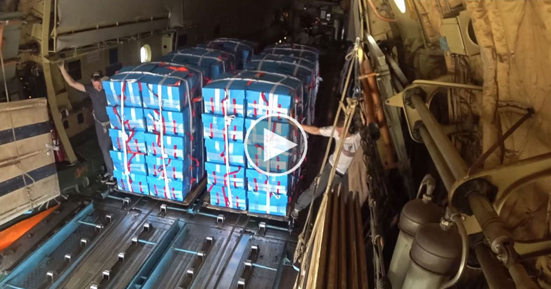 What Air Dropping Food to South Sudan Looks Like