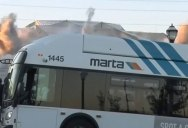 Cameraman Loses Mind LIVE as Bus Perfectly Blocks Building's Implosion