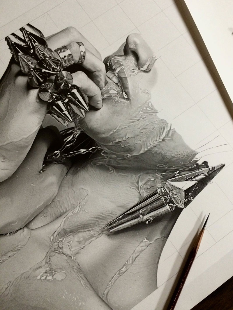 hyper realistic pencil drawings by japanese artist kohei ohmori 10 Highly Detailed Close Ups of Amazing Hyper Realistic Pencil Drawings