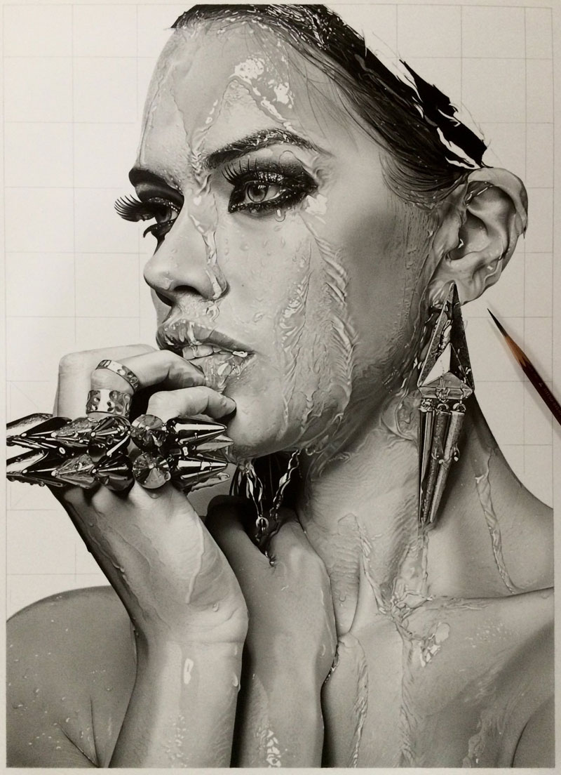hyper realistic pencil drawings by japanese artist kohei ohmori 11 Highly Detailed Close Ups of Amazing Hyper Realistic Pencil Drawings