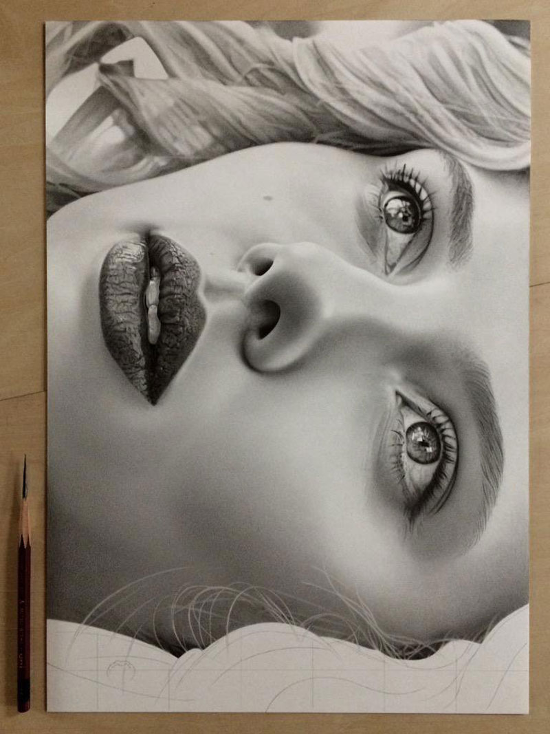 hyper realistic pencil drawings by japanese artist kohei ohmori 4 Highly Detailed Close Ups of Amazing Hyper Realistic Pencil Drawings