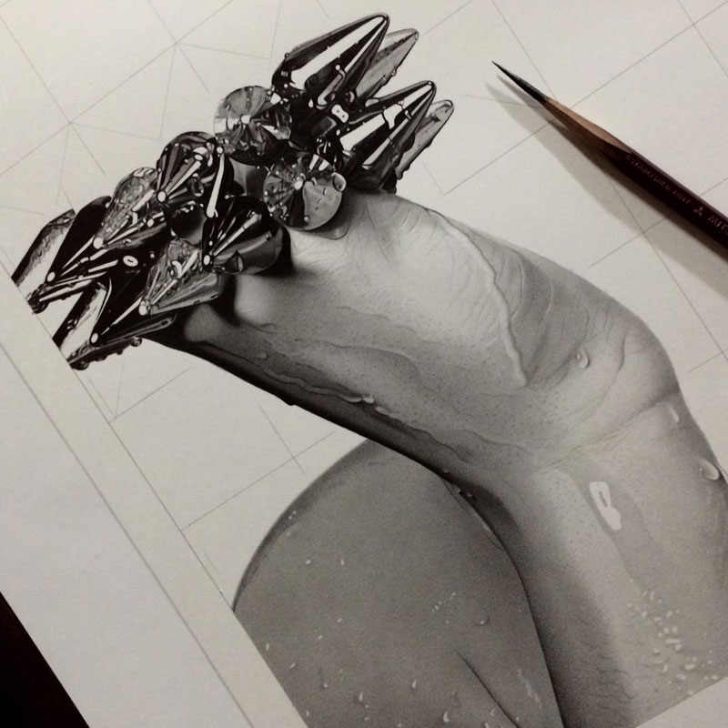 hyper realistic pencil drawings by japanese artist kohei ohmori 8 Highly Detailed Close Ups of Amazing Hyper Realistic Pencil Drawings