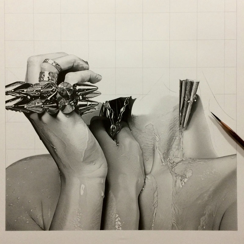 hyper realistic pencil drawings by japanese artist kohei ohmori 9 Highly Detailed Close Ups of Amazing Hyper Realistic Pencil Drawings