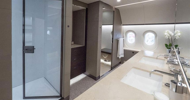 inside private boeing 787 8 dreamliner 7 Inside the Worlds Only Private 787 Dreamliner (10 Photos)