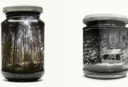 Bottled Memories of Childhood Landscapes Using Double Exposure Photography