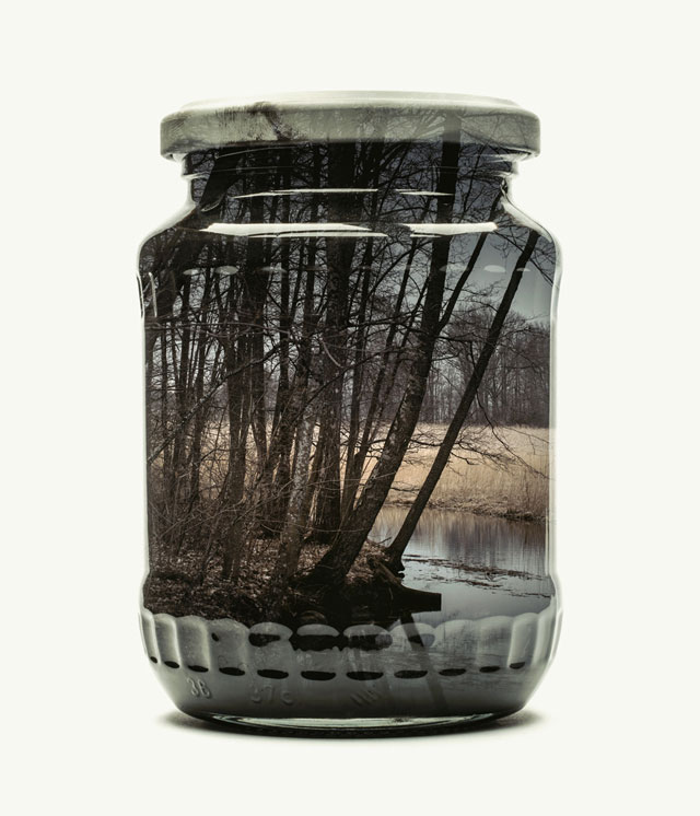 jarred and displaced by christoffer relander 6 Bottled Memories of Childhood Landscapes Using Double Exposure Photography