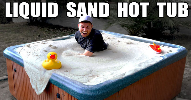 A Liquid Sand Hot Tub Looks as Interesting as It Sounds