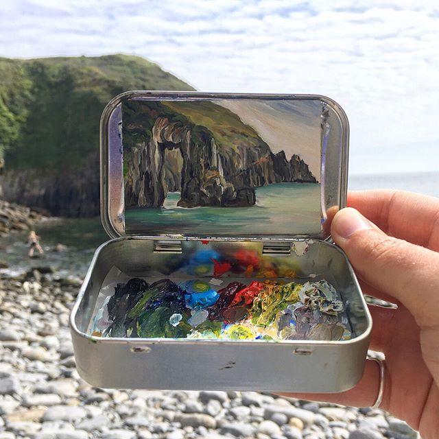 miniature landscapes painted inside mint tins by heidi annalise 10 15 Miniature Landscapes Painted Inside Mint Tins