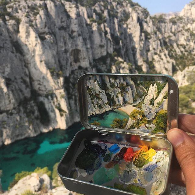 miniature landscapes painted inside mint tins by heidi annalise 13 15 Miniature Landscapes Painted Inside Mint Tins