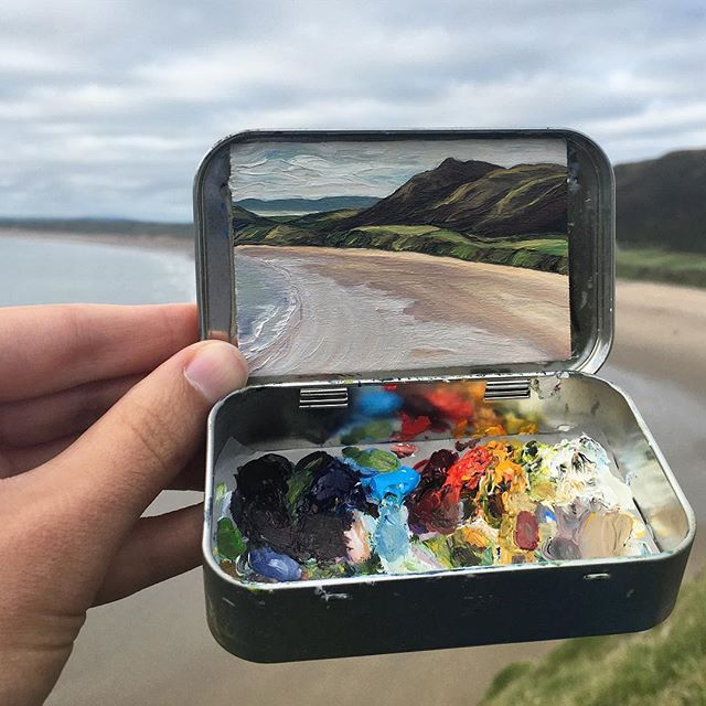miniature landscapes painted inside mint tins by heidi annalise 9 15 Miniature Landscapes Painted Inside Mint Tins