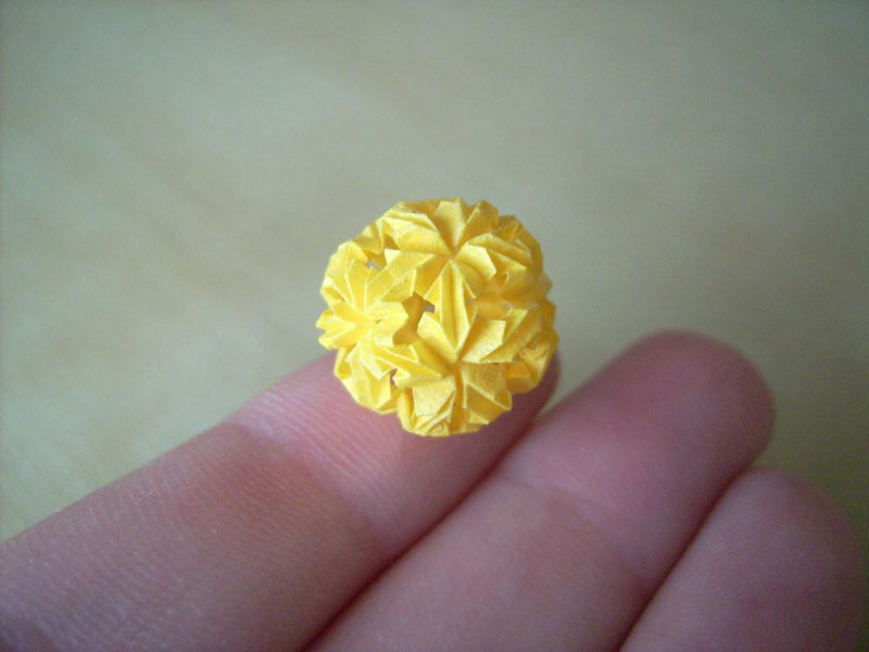 miniature origami with toothpicks by anja markiewicz 12 Paper Artist Uses Toothpicks to Fold Impossibly Small Origami