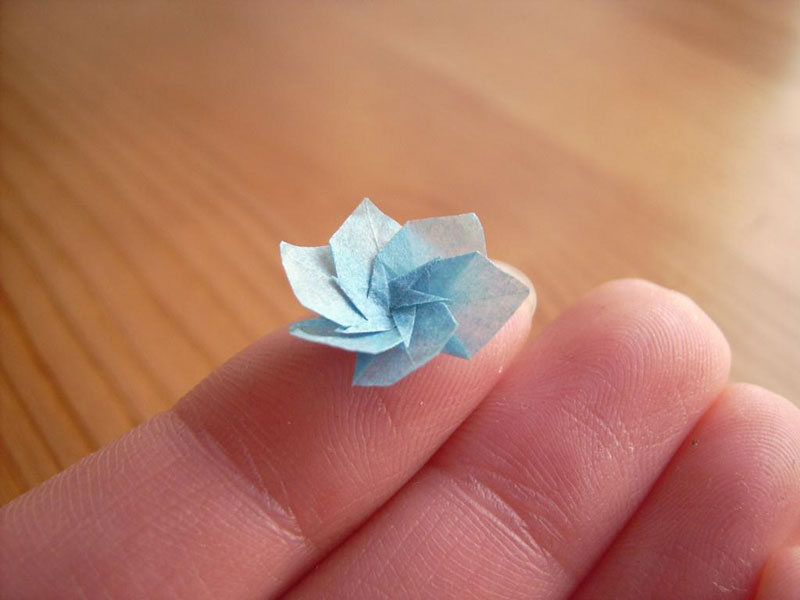 miniature origami with toothpicks by anja markiewicz 13 Paper Artist Uses Toothpicks to Fold Impossibly Small Origami