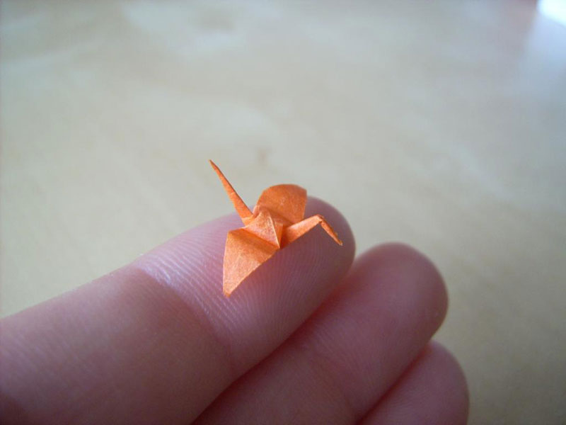 miniature origami with toothpicks by anja markiewicz 8 Paper Artist Uses Toothpicks to Fold Impossibly Small Origami